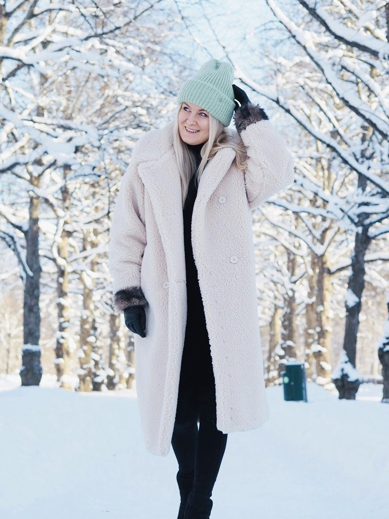 teddy coat long