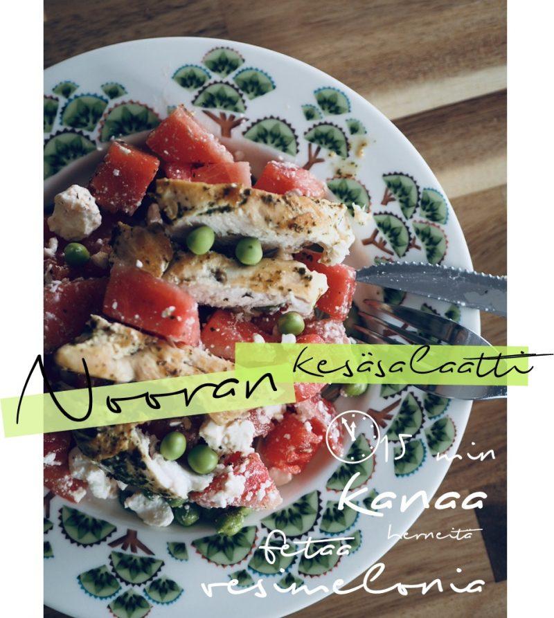 vesimeloni salaatti