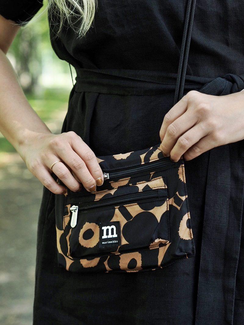 oranssi musta unikko laukku